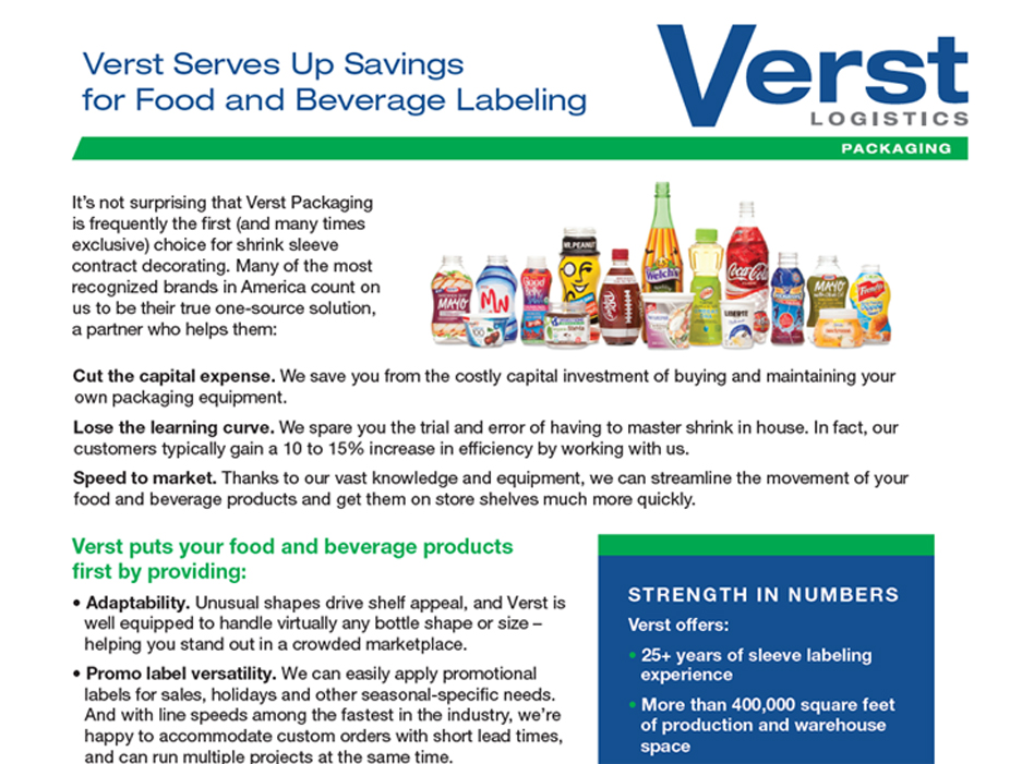 Food & Beverage Labeling Case Study