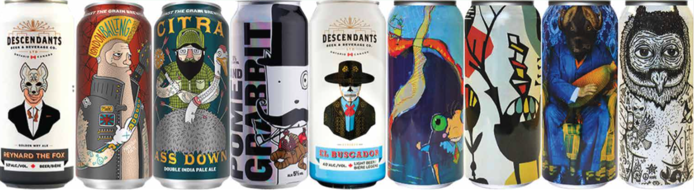 Craft Beer Can Labels